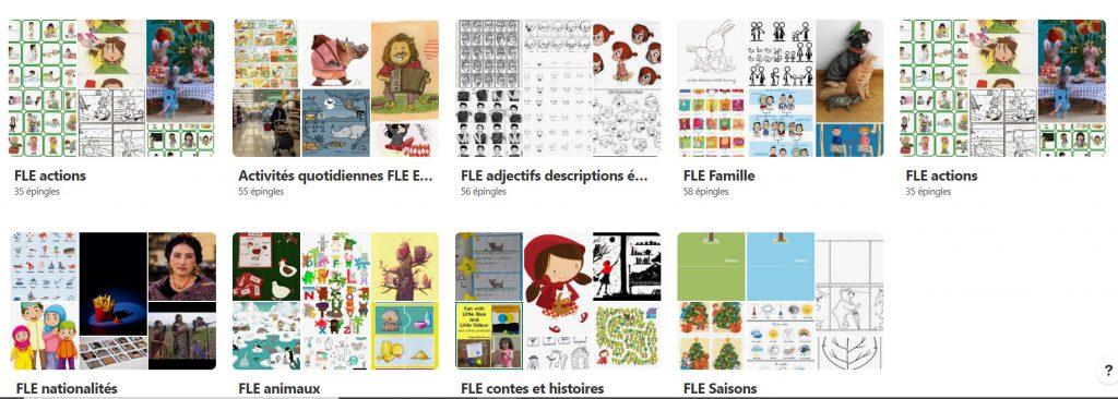 FLe aux enfants tableau collaboratif Pinterest